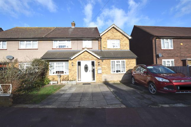 Thumbnail End terrace house for sale in Kingston Hill Avenue, Chadwell Heath, Romford