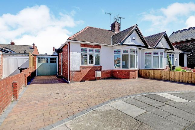 Thumbnail Bungalow for sale in Chatsworth Gardens, Whitley Bay