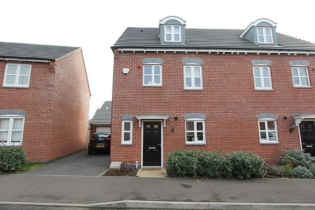 Thumbnail Semi-detached house for sale in Usbourne Way, Ibstock, Leicestershire