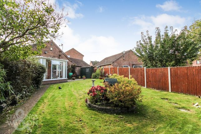 Thumbnail Detached bungalow for sale in Ropes Walk, Blofield, Norwich