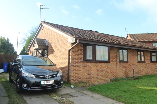 Thumbnail Semi-detached bungalow for sale in Sarnesfield Close, Manchester