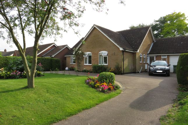 Thumbnail Detached bungalow for sale in West Carr Road, Attleborough