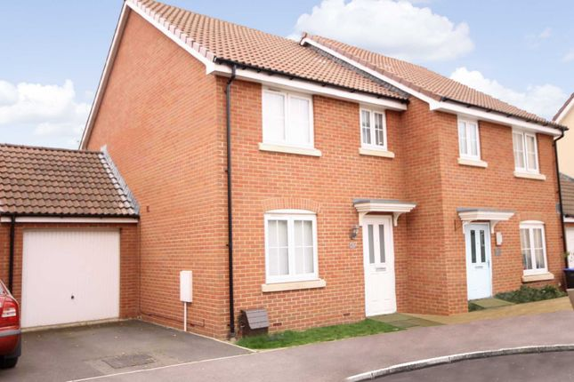 Thumbnail Semi-detached house to rent in Blain Place, Royal Wootton Bassett, Wiltshire