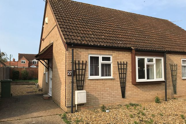 Thumbnail Semi-detached bungalow for sale in Garlondes, East Harling, Norwich