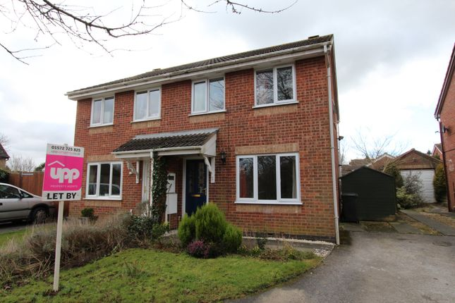 Thumbnail Semi-detached house to rent in Redwing Close, Oakham