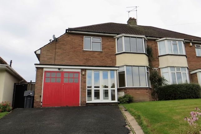Thumbnail Semi-detached house to rent in Callow Hill Road, Alvechurch, Birmingham