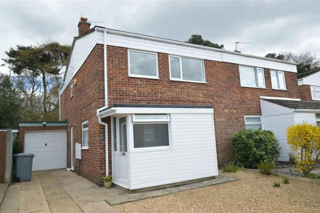 Thumbnail Semi-detached house for sale in Hornbeam Close, Sprowston, Norwich