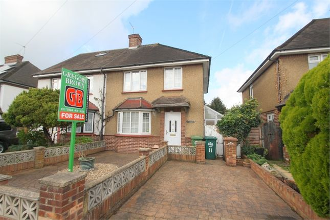 2 bed semi-detached house for sale in Thickthorne Lane, Staines-Upon-Thames, Surrey