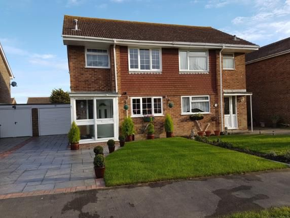 Thumbnail Semi-detached house for sale in Gainsborough Drive, Selsey, West Sussex