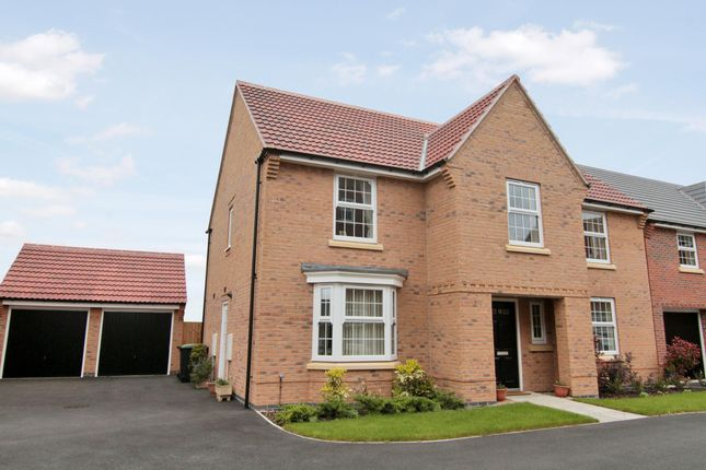 "Thumbnail Detached house for sale in ""Winstone"" at Wright Close, Whetstone, Leicester"