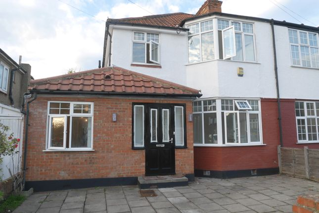 Thumbnail Semi-detached house to rent in Woodberry Avenue, North Harrow