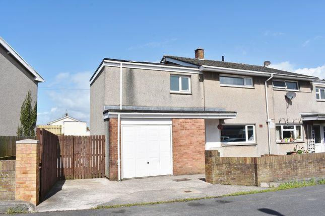 Thumbnail Semi-detached house for sale in Ffynon Wen, North Cornelly, Bridgend.