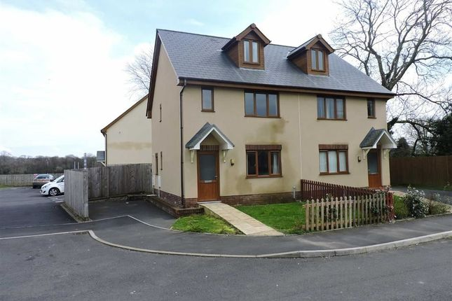 Thumbnail Semi-detached house for sale in Llys Y Brenin, Whitland, Carmarthenshire