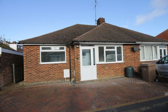 Thumbnail Semi-detached bungalow to rent in Calnwood Road, Luton