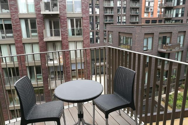 Balcony of Capital Building, Embassy Gardens, 5 New Union Square, Nine Elms, London SW11