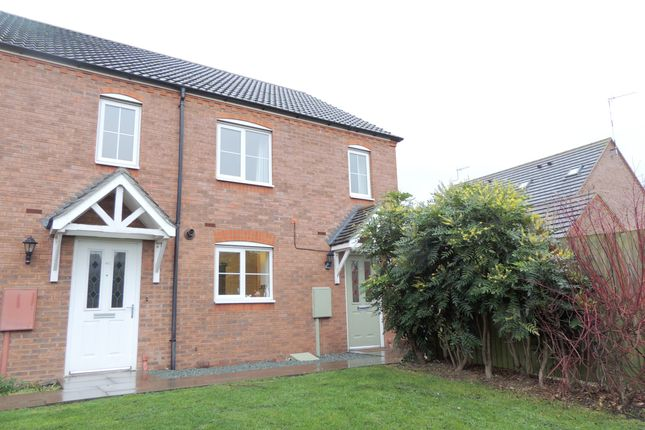 Thumbnail End terrace house for sale in Dovehouse Close, Warwick