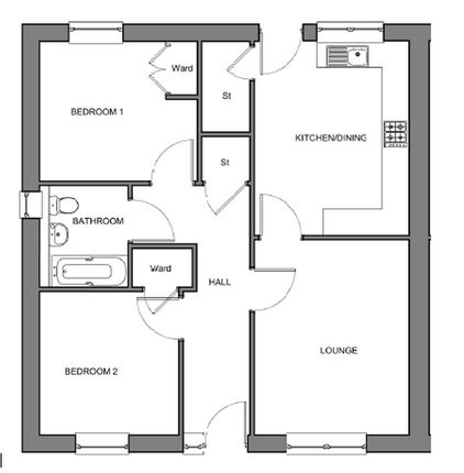 Floorplan of Hugh Mackenzie Avenue, Alness IV17