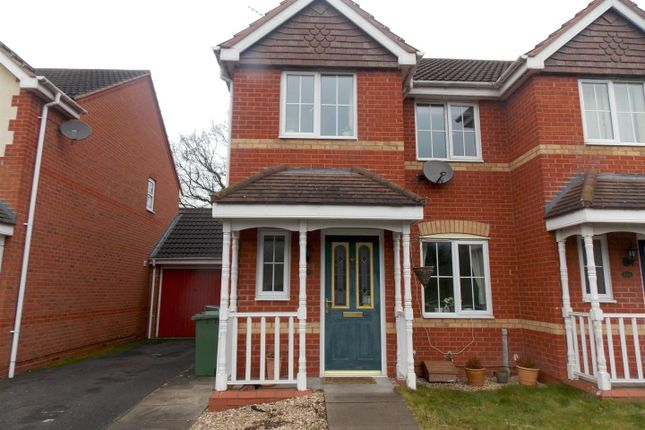 Thumbnail End terrace house to rent in Swan Drive, Droitwich