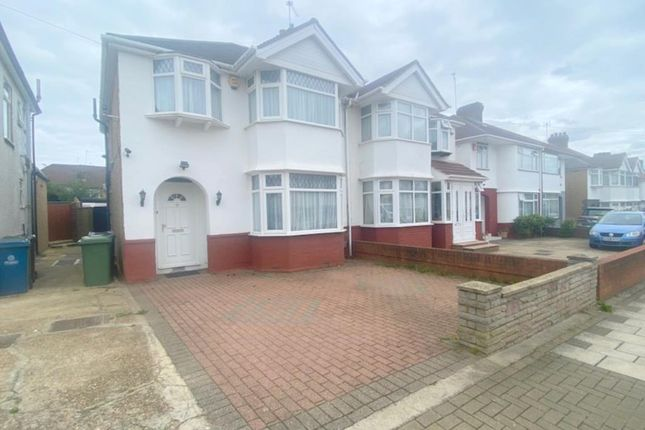Semi-detached house to rent in Portland Crescent, Stanmore, Middlesex