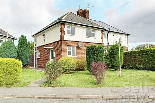 Thumbnail Semi-detached house for sale in Vernon Road, Brampton, Chesterfield, Derbyshire