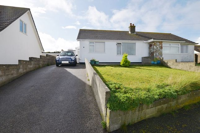 Thumbnail Semi-detached bungalow for sale in Droskyn Way, Perranporth