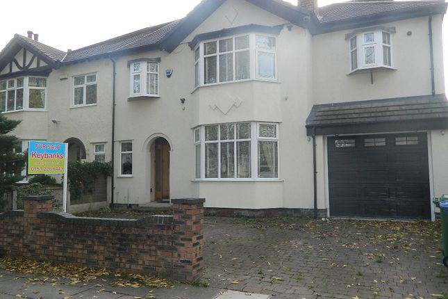 Thumbnail Semi-detached house for sale in Blackmoor Drive, Liverpool, Merseyside
