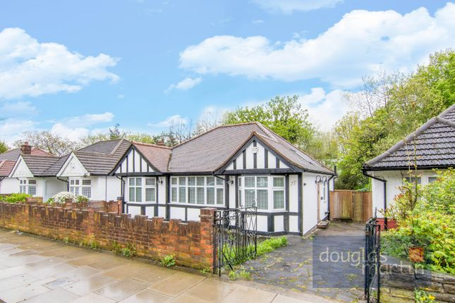 Thumbnail Detached bungalow for sale in Shirehall Park, London