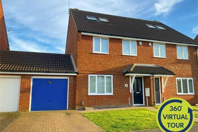 Thumbnail Semi-detached house for sale in Pen Green Lane, Corby, Northamptonshire
