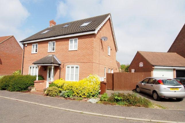 Thumbnail Detached house for sale in Gatekeeper Close, Wymondham