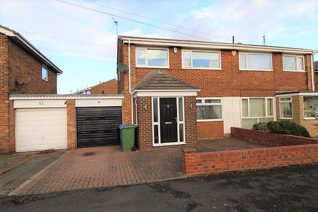 Thumbnail Semi-detached house to rent in Druridge Drive, Blyth