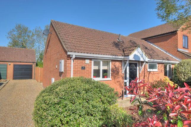 Thumbnail Semi-detached bungalow for sale in Highfield Close, Foulsham, Dereham
