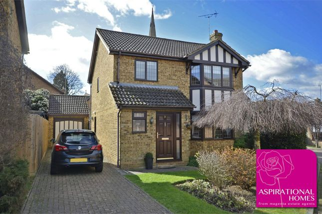 Thumbnail Detached house for sale in Dovecote Close, Raunds, Northamptonshire