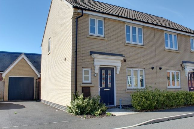Thumbnail Semi-detached house for sale in 1 Badger Road, Costessey