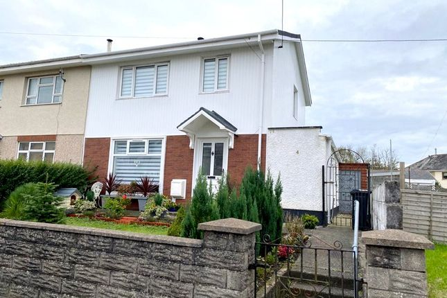 Thumbnail Semi-detached house for sale in Ynys Fawr Avenue, Resolven, Neath, Neath Port Talbot.