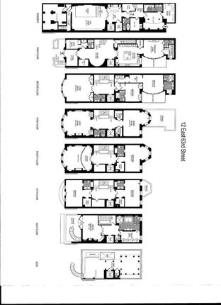 Thumbnail Town house for sale in 12 East 63rd Street, New York, New York State, United States Of America
