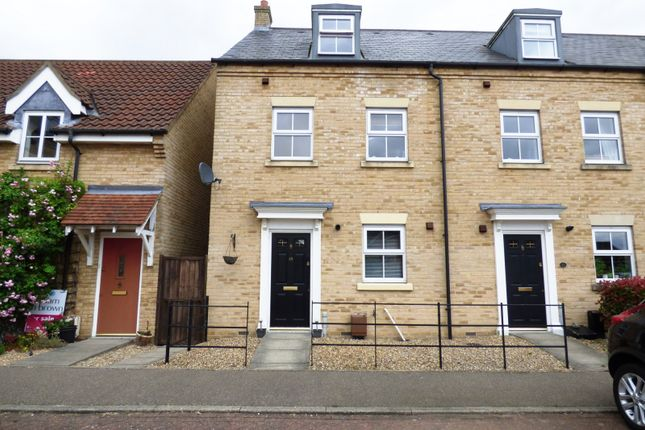 Thumbnail End terrace house for sale in Field Acre Way, Long Stratton