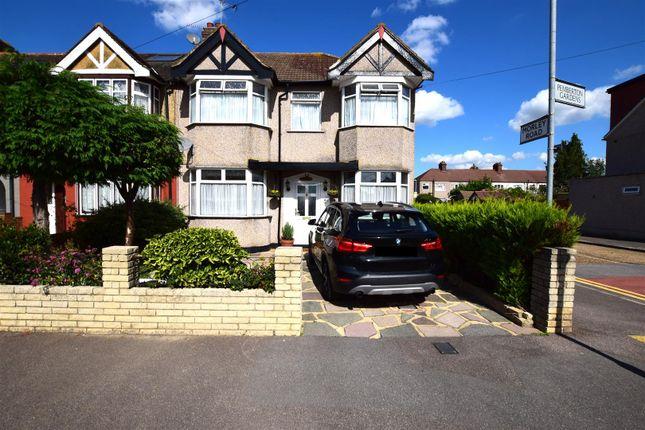 Thumbnail End terrace house for sale in Pemberton Gardens, Chadwell Heath, Romford