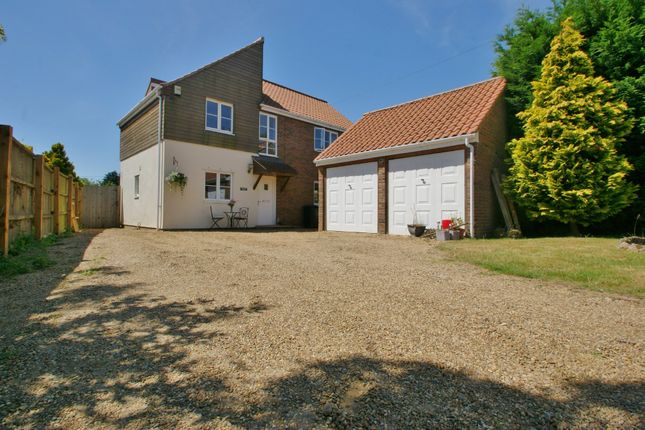 Thumbnail Detached house for sale in Cross Road, Swanton Abbott, Norwich