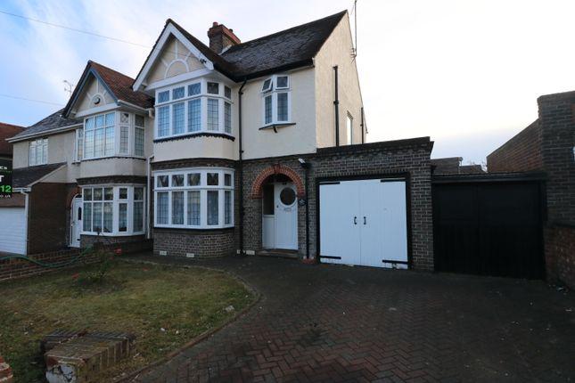 Thumbnail Semi-detached house to rent in Montrose Avenue, Luton
