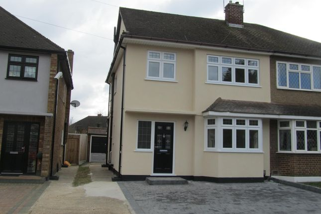 Thumbnail Semi-detached house to rent in Gillian Crescent, Romford