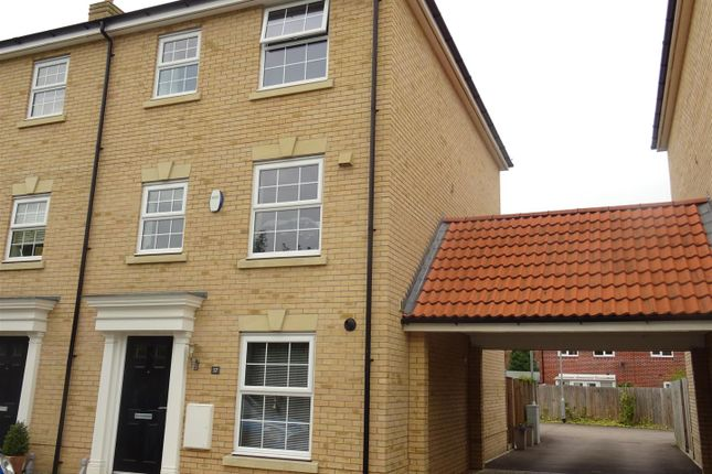 Thumbnail Town house for sale in Jubilee Crescent, Needham Market, Ipswich