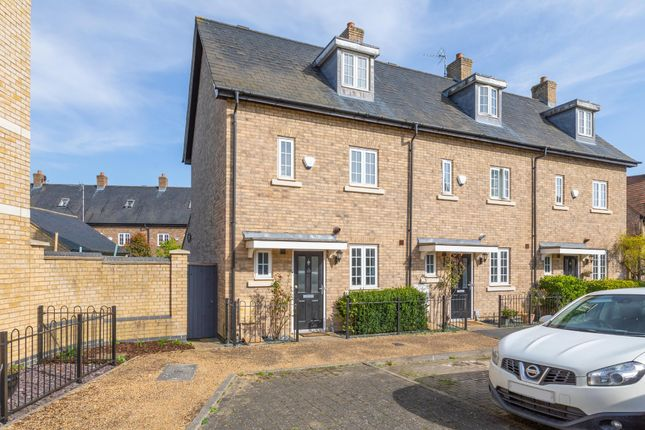 Thumbnail End terrace house for sale in Palmerston Way, Fairfield, Herts