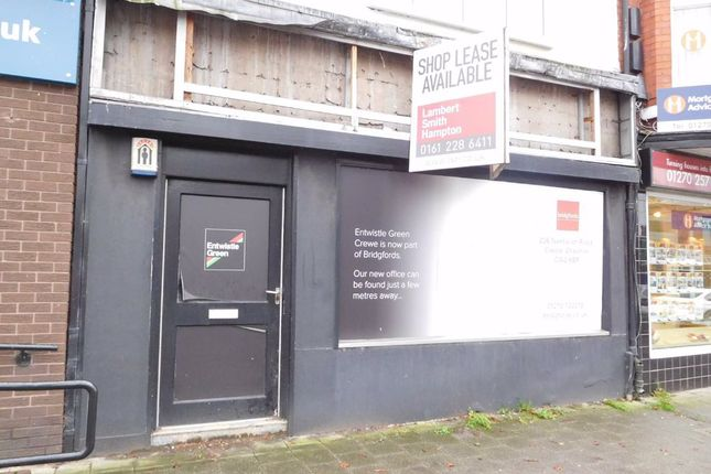 Thumbnail Retail premises for sale in Nantwich Road, Crewe, Cheshire