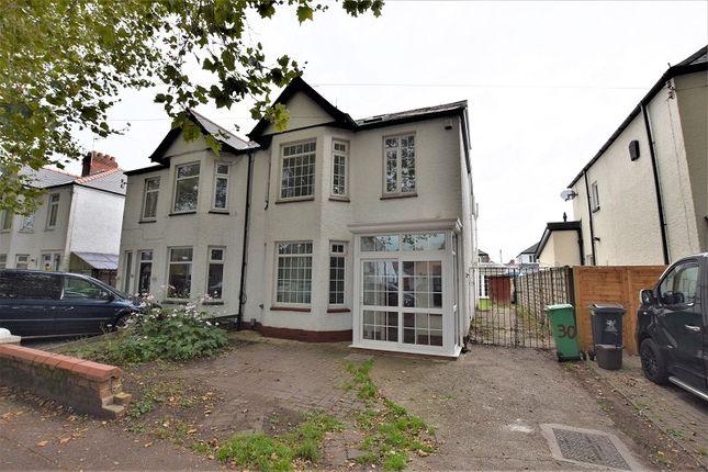 Thumbnail Semi-detached house for sale in Heathwood Road, Heath, Cardiff.