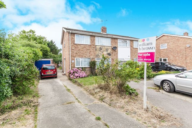 Semi-detached house for sale in Orchard Close, Great Oakley, Harwich