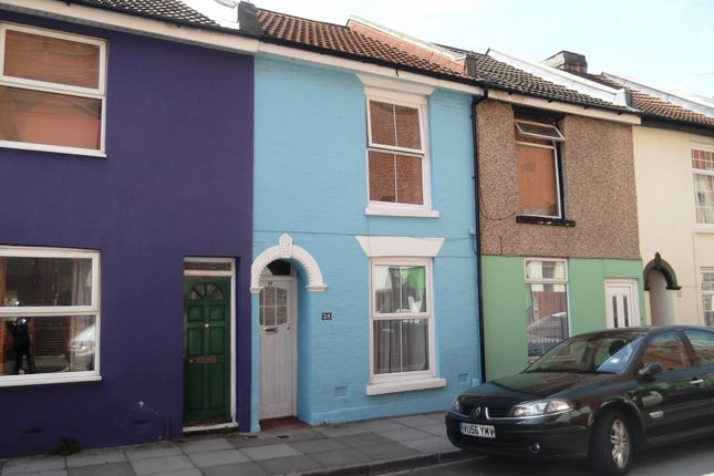 Thumbnail Terraced house to rent in Exmouth Road, Southsea