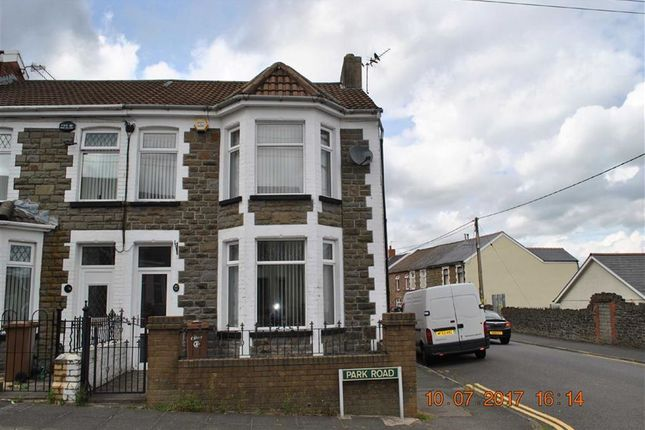 Thumbnail End terrace house for sale in Park Road, Bargoed