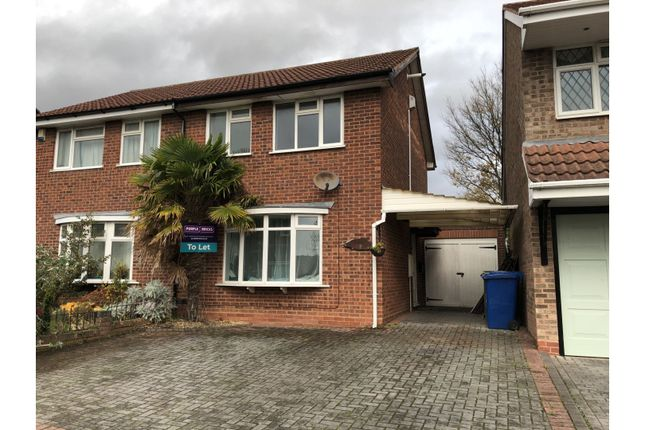 Thumbnail Semi-detached house to rent in Lintly, Tamworth