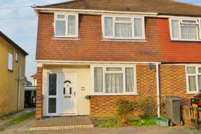 Thumbnail Semi-detached house to rent in Cox Lane, Chessington