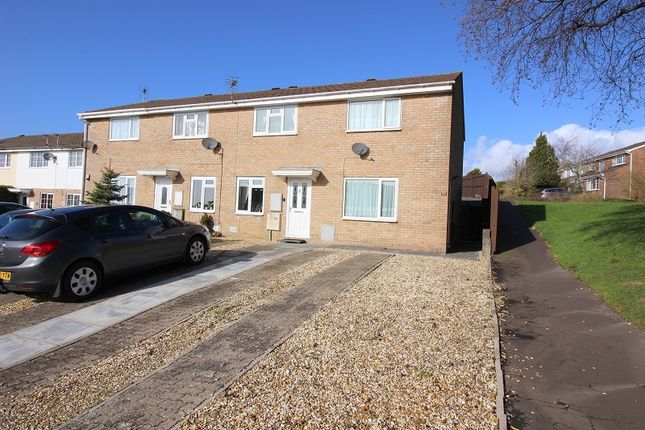 Thumbnail End terrace house for sale in The Chase, Brackla, Bridgend.